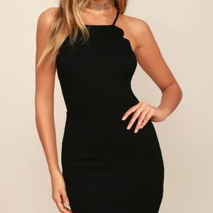 Hearts content black body con dress